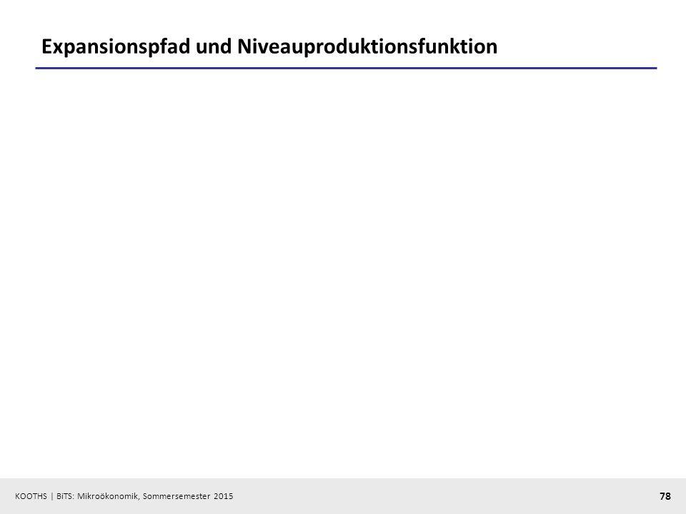 Expansionspfad und Niveauproduktionsfunktion