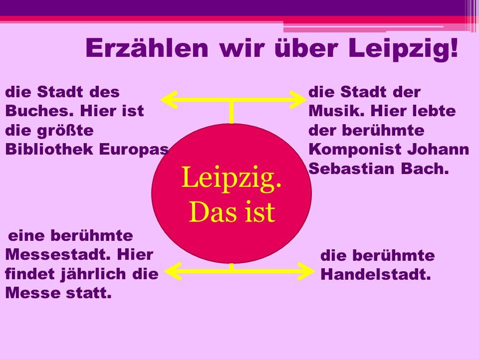 Erzählen wir über Leipzig!