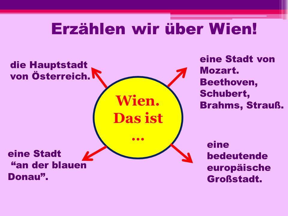 Erzählen wir über Wien! Wien. Das ist …