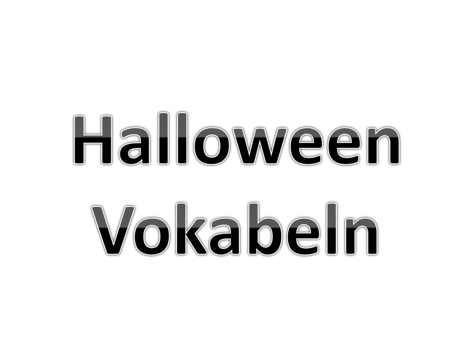 Halloween Vokabeln