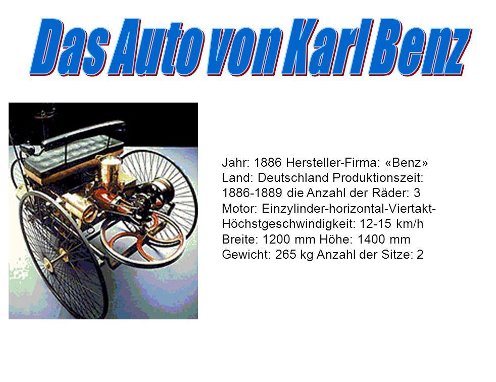 Das Auto von Karl Benz