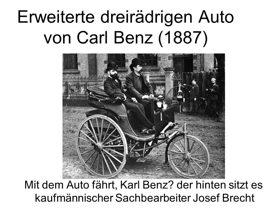 Erweiterte dreirädrigen Auto von Carl Benz (1887)