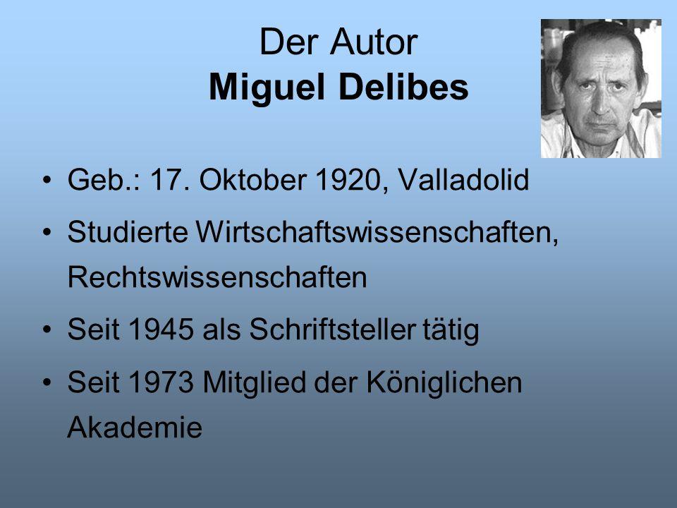 Der Autor Miguel Delibes