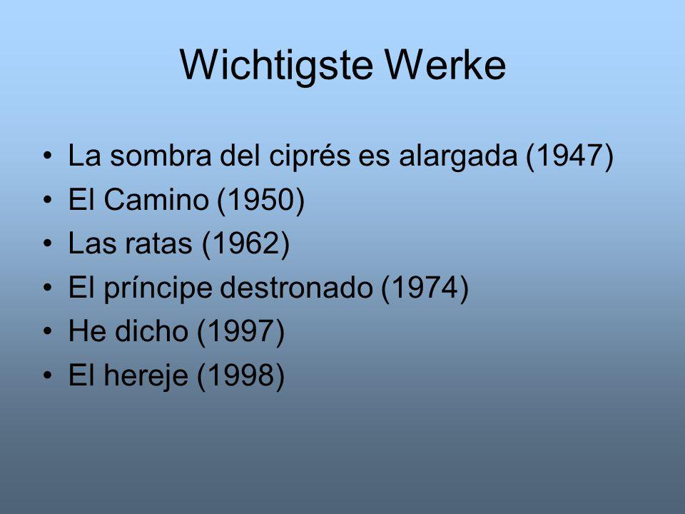 Wichtigste Werke La sombra del ciprés es alargada (1947)