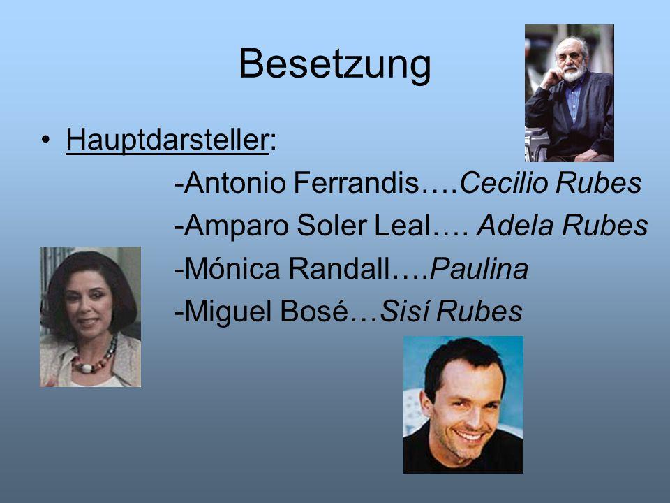 Besetzung Hauptdarsteller: -Antonio Ferrandis….Cecilio Rubes