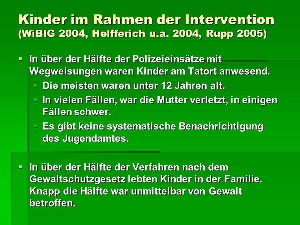 Kinder im Rahmen der Intervention (WiBIG 2004, Helfferich u. a