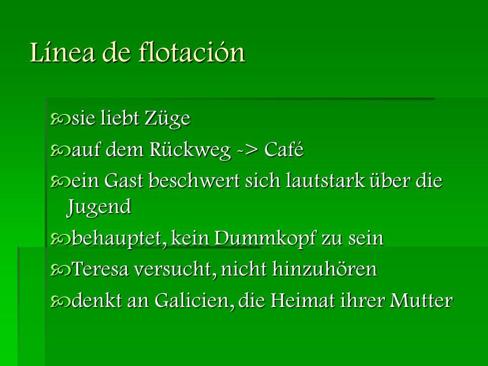 Línea de flotación sie liebt Züge auf dem Rückweg -> Café