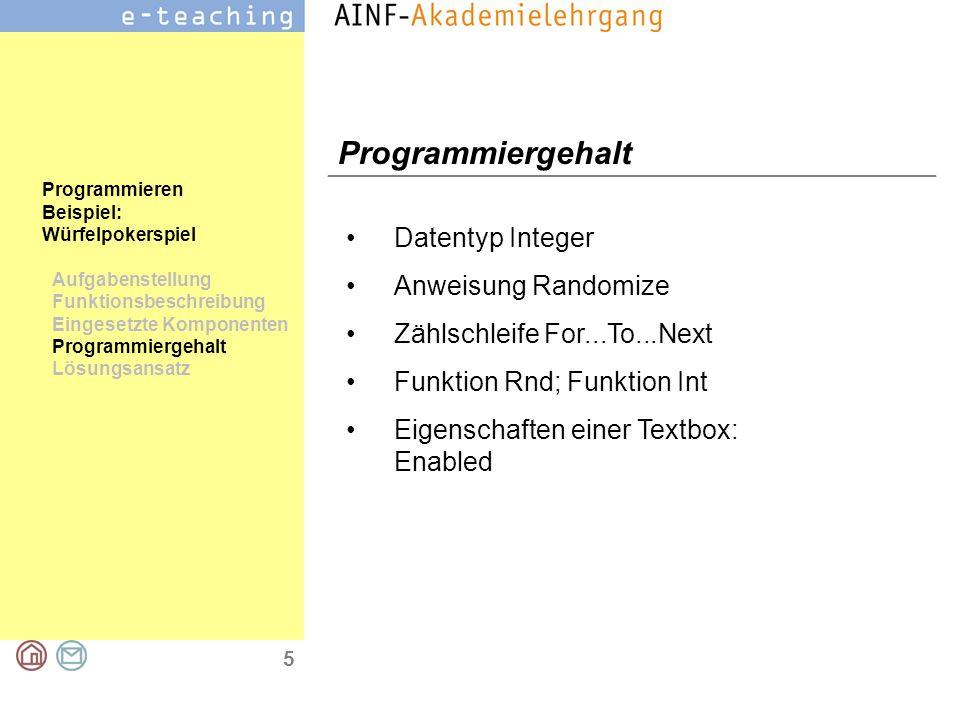 Programmiergehalt Datentyp Integer Anweisung Randomize