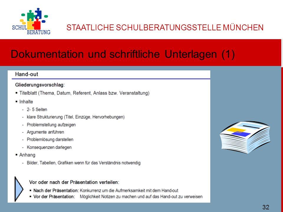 Dokumentation und schriftliche Unterlagen (1)