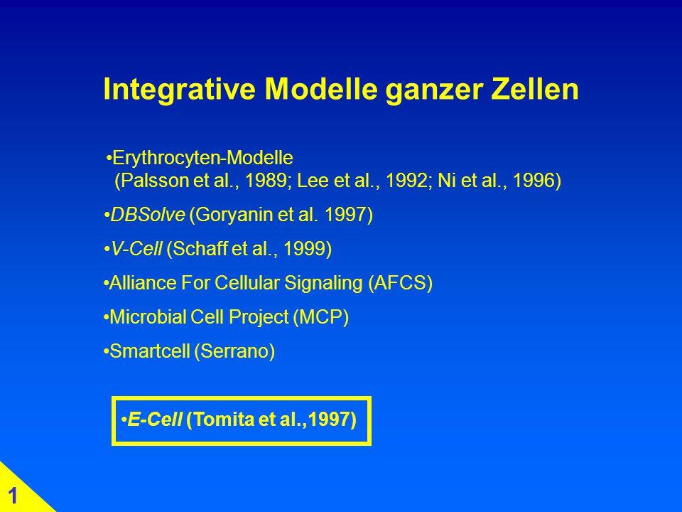 Integrative Modelle ganzer Zellen