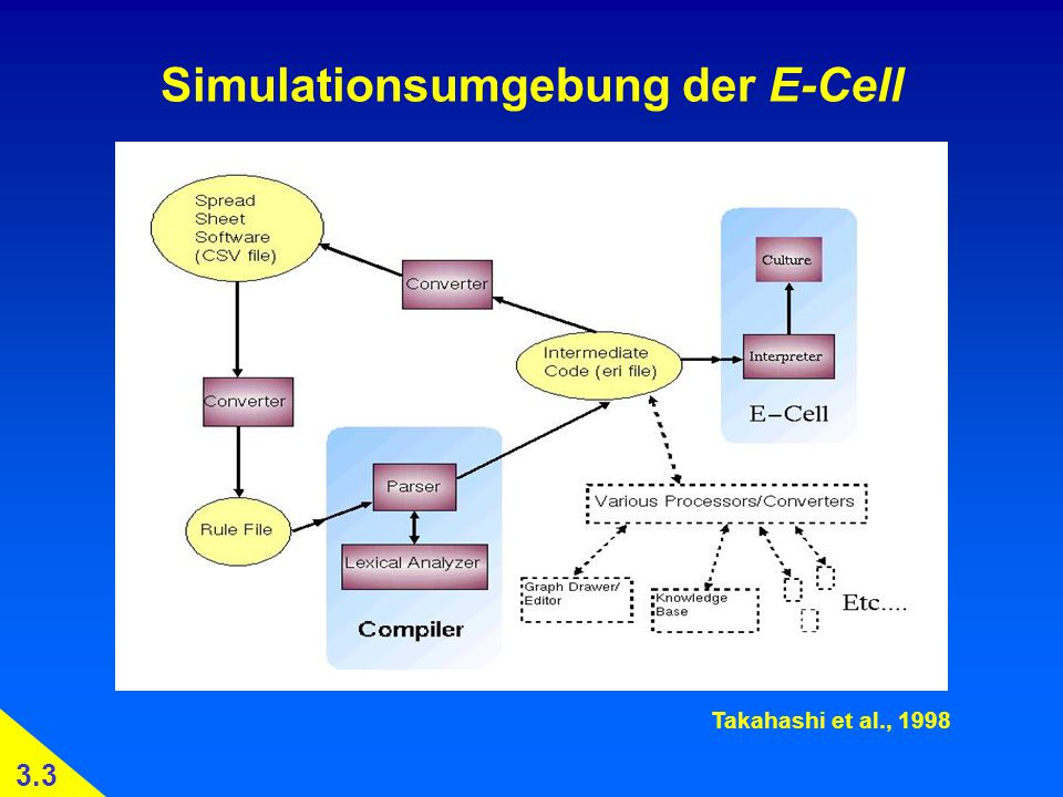 Simulationsumgebung der E-Cell