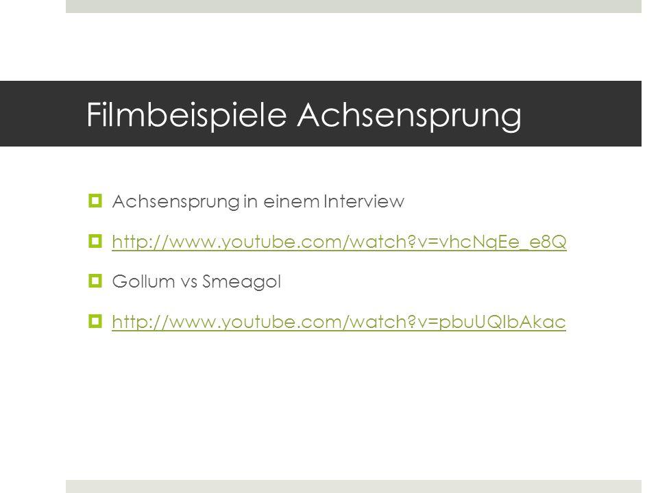 Filmbeispiele Achsensprung