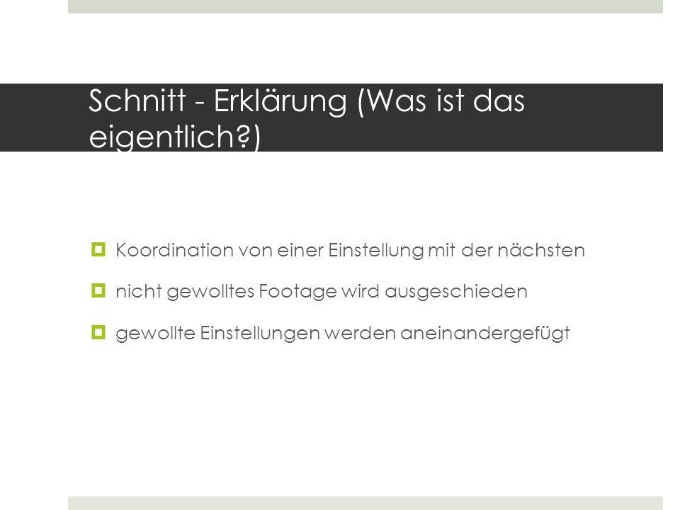 Schnitt - Erklärung (Was ist das eigentlich )