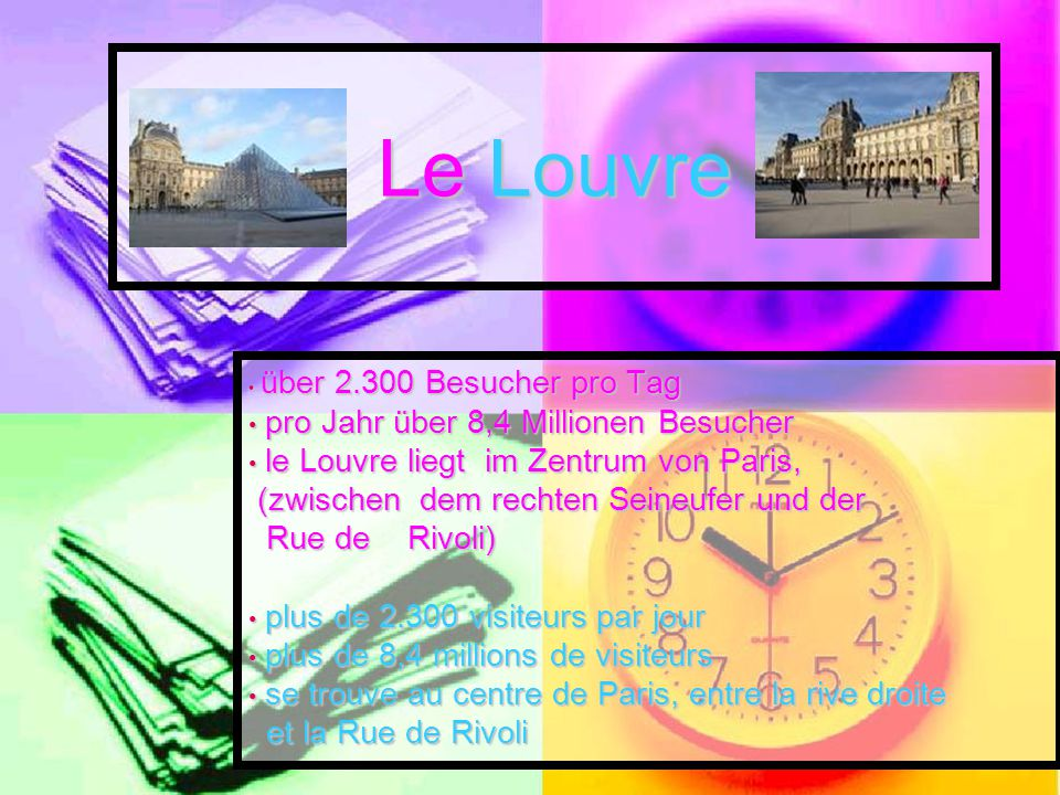 Le Louvre pro Jahr über 8,4 Millionen Besucher
