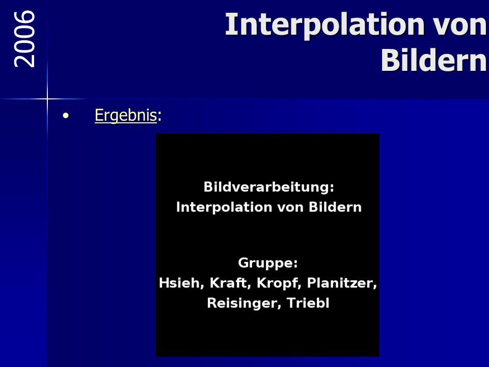 Interpolation von Bildern