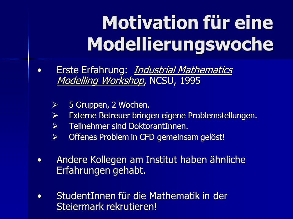 Motivation für eine Modellierungswoche