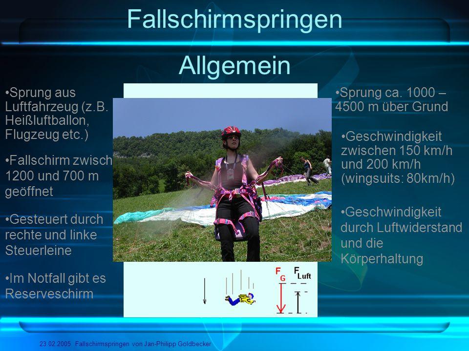 Fallschirmspringen Allgemein