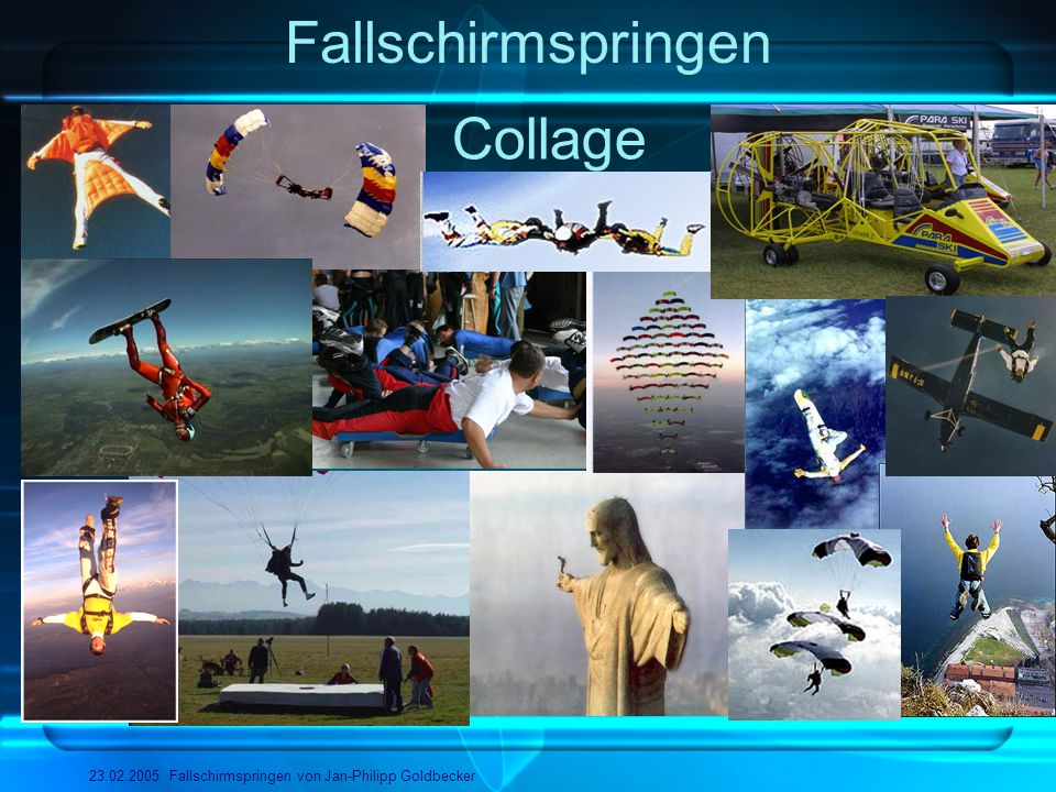 Fallschirmspringen Collage