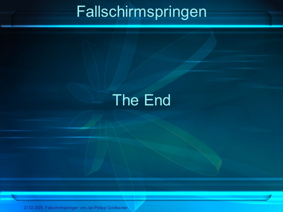 Fallschirmspringen The End