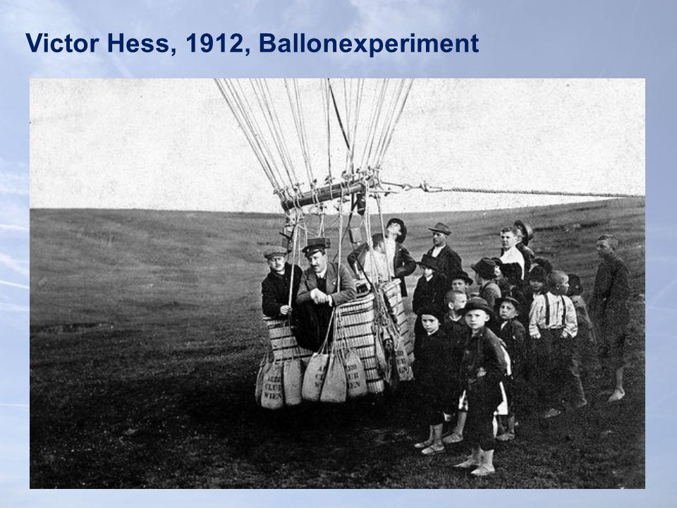 Victor Hess, 1912, Ballonexperiment