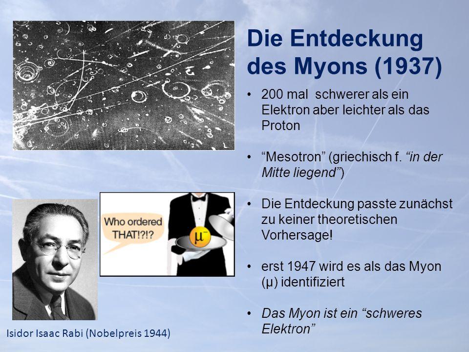 Die Entdeckung des Myons (1937)