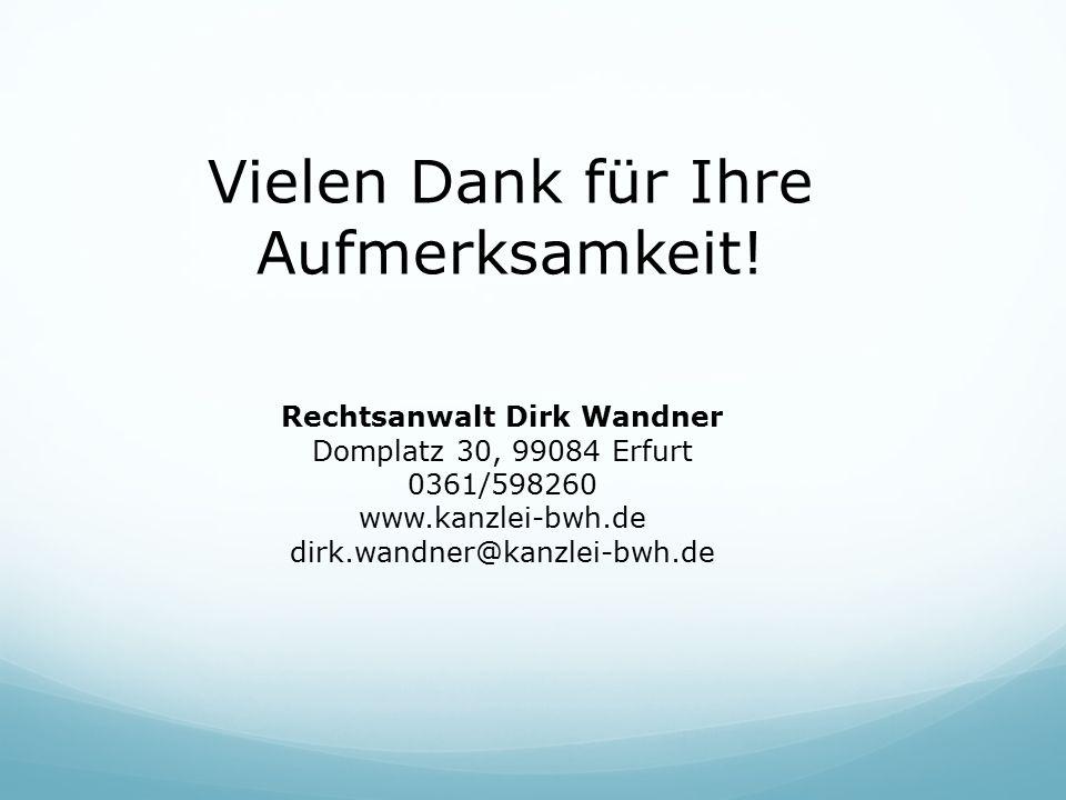 Rechtsanwalt Dirk Wandner