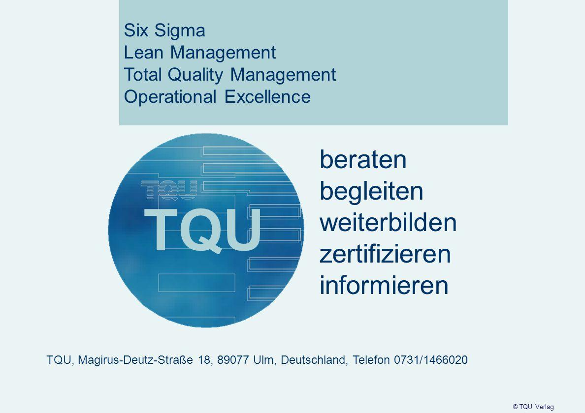TQU beraten begleiten weiterbilden zertifizieren informieren Six Sigma