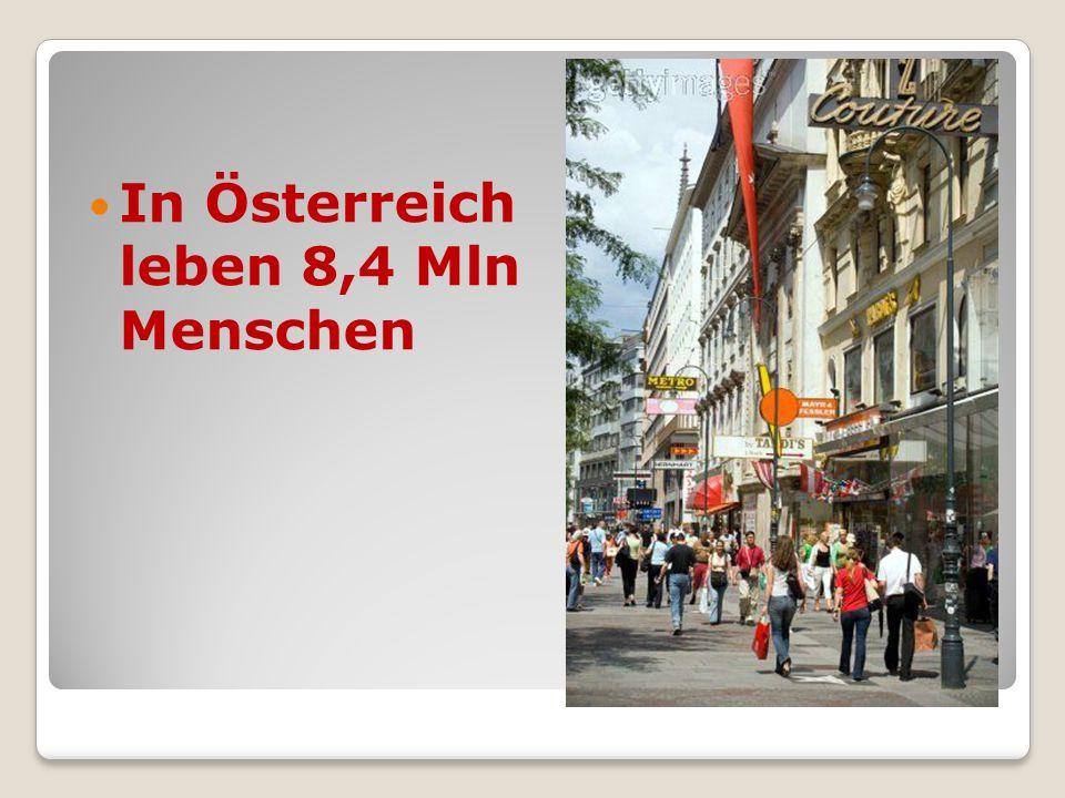 In Österreich leben 8,4 Mln Menschen