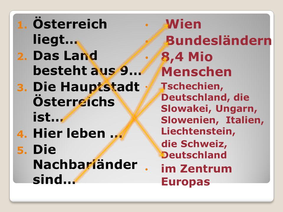 Die Hauptstadt Österreichs ist…