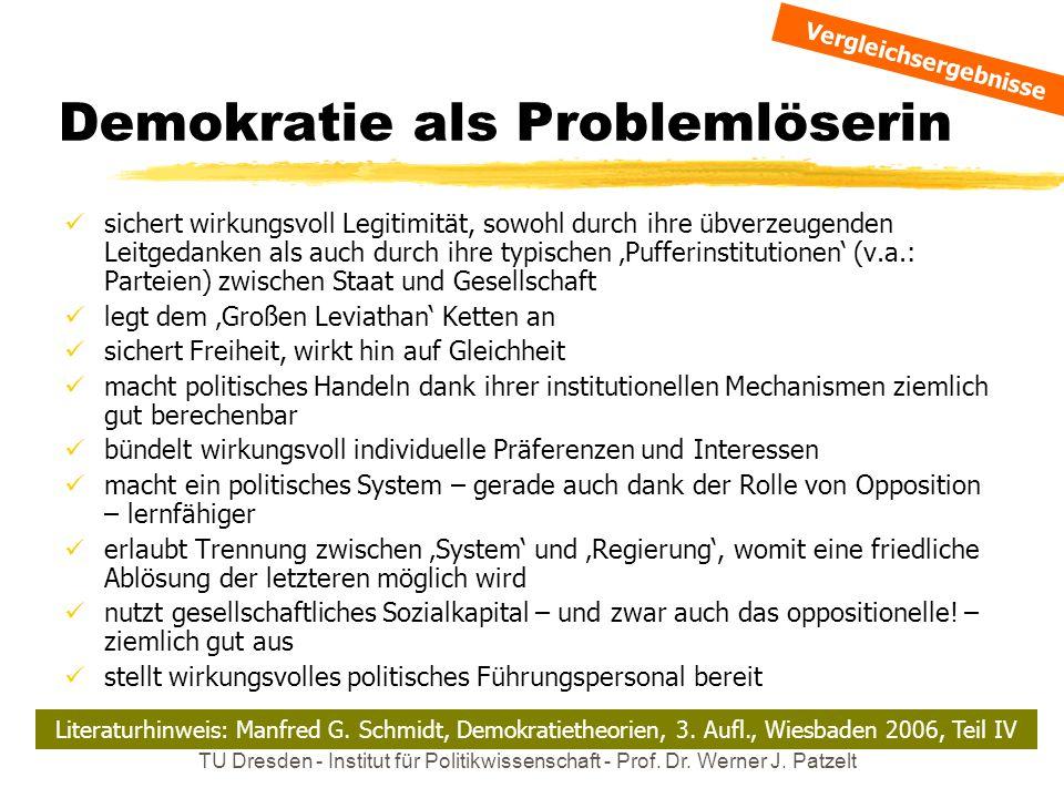 Demokratie als Problemlöserin