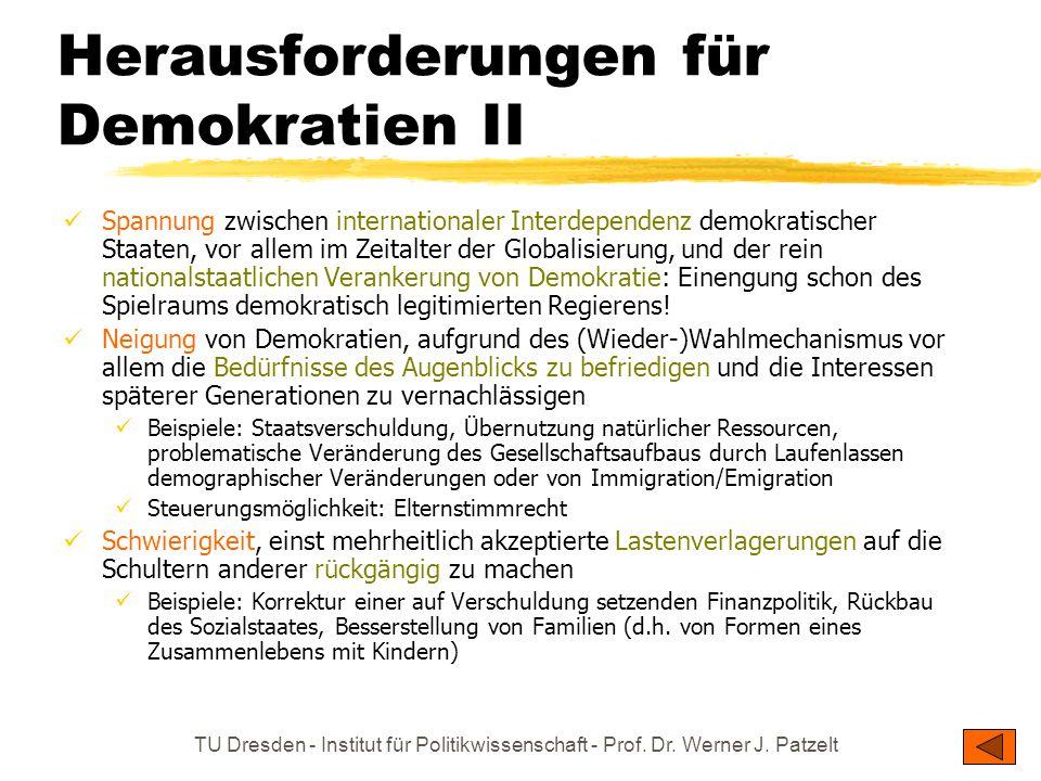 Herausforderungen für Demokratien II
