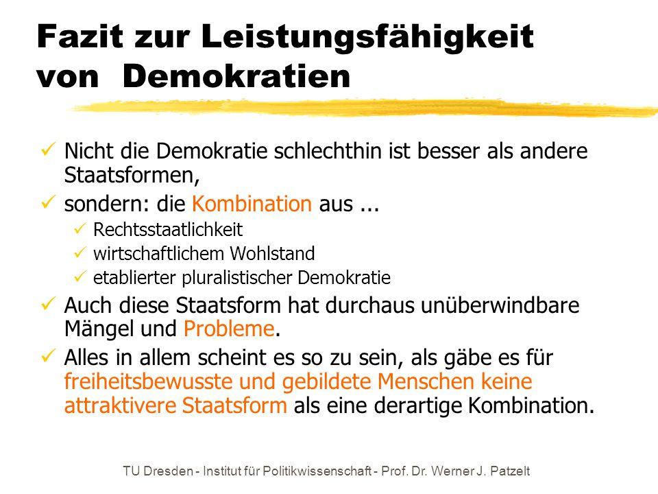 Fazit zur Leistungsfähigkeit von Demokratien