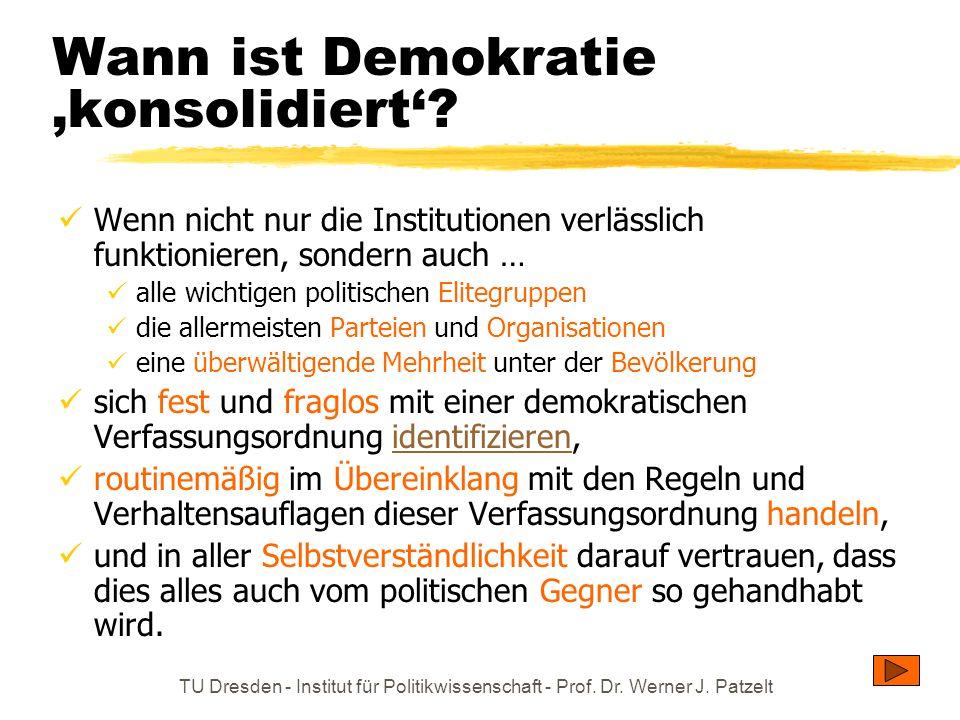 Wann ist Demokratie 'konsolidiert'