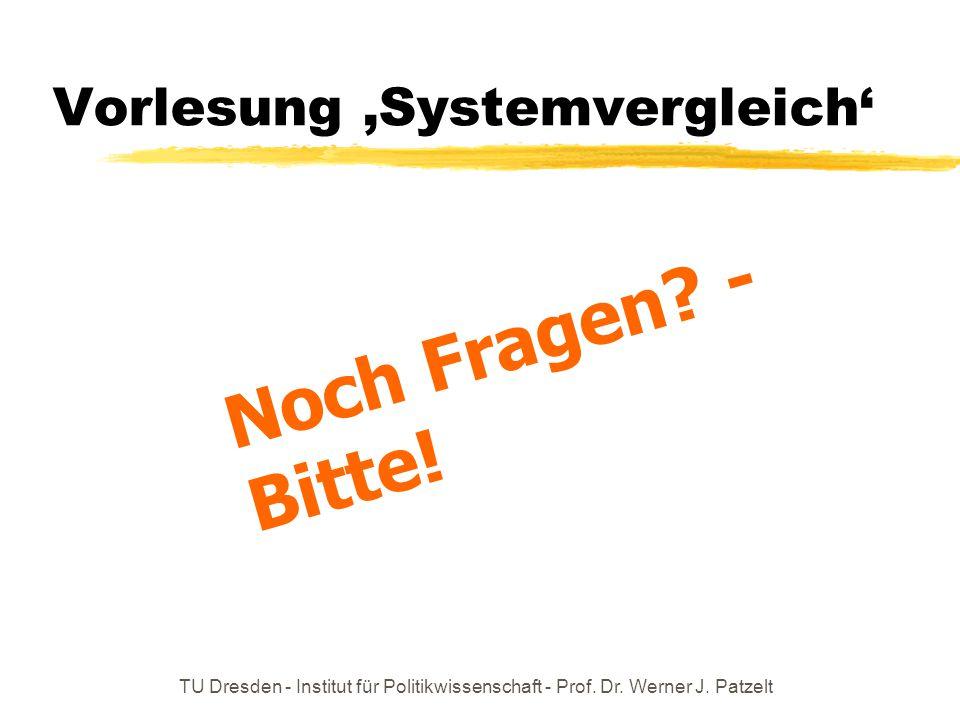 Vorlesung 'Systemvergleich'