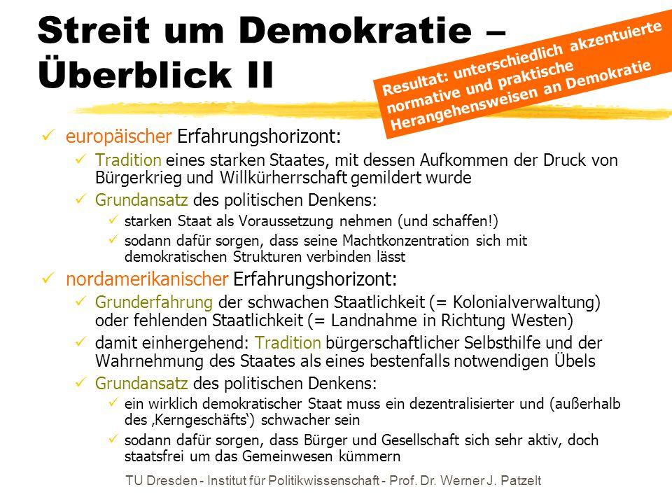 Streit um Demokratie – Überblick II