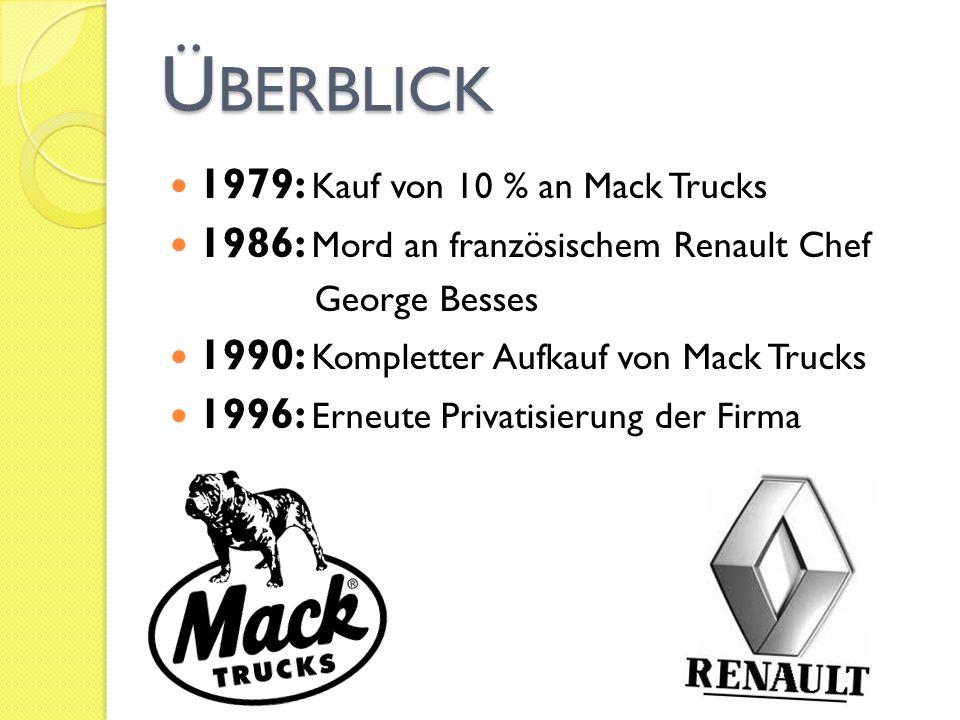Überblick 1979: Kauf von 10 % an Mack Trucks