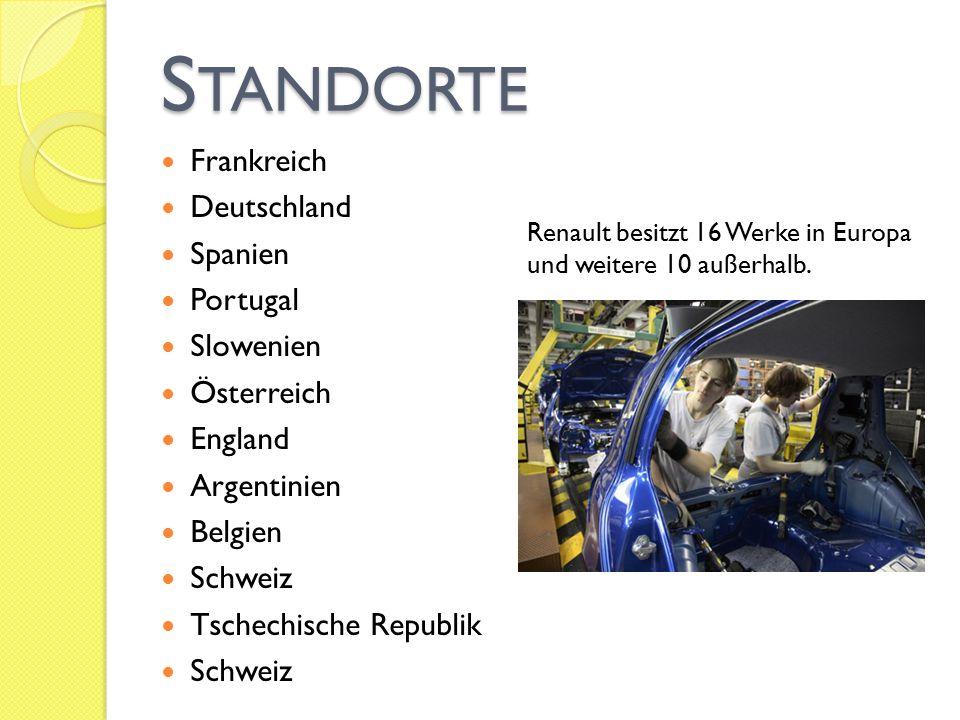 Standorte Frankreich Deutschland Spanien Portugal Slowenien Österreich