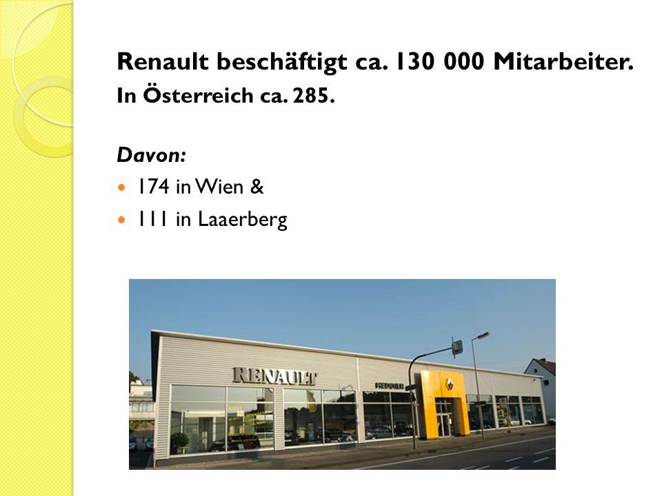 Renault beschäftigt ca. 130 000 Mitarbeiter.