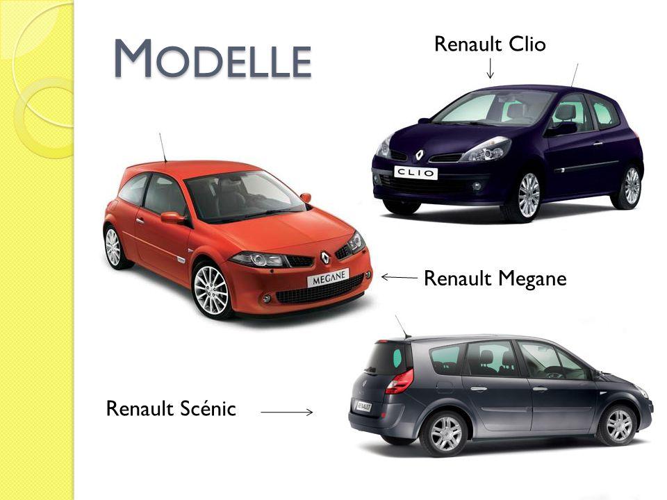 Modelle Renault Clio Renault Megane Renault Scénic