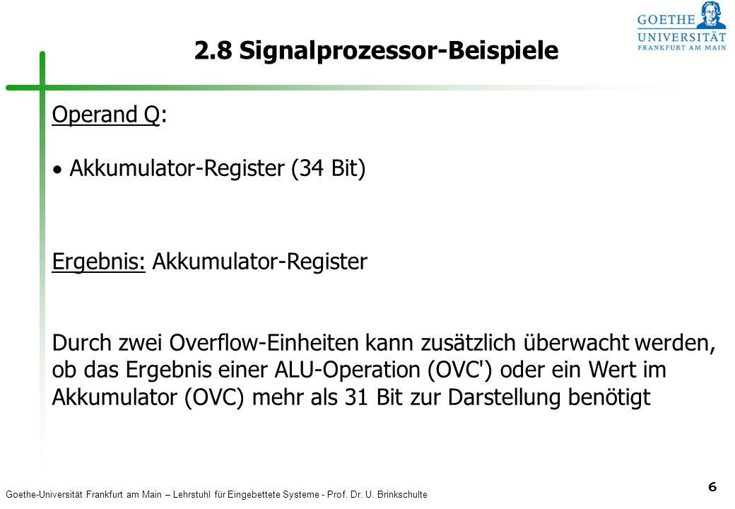 2.8 Signalprozessor-Beispiele