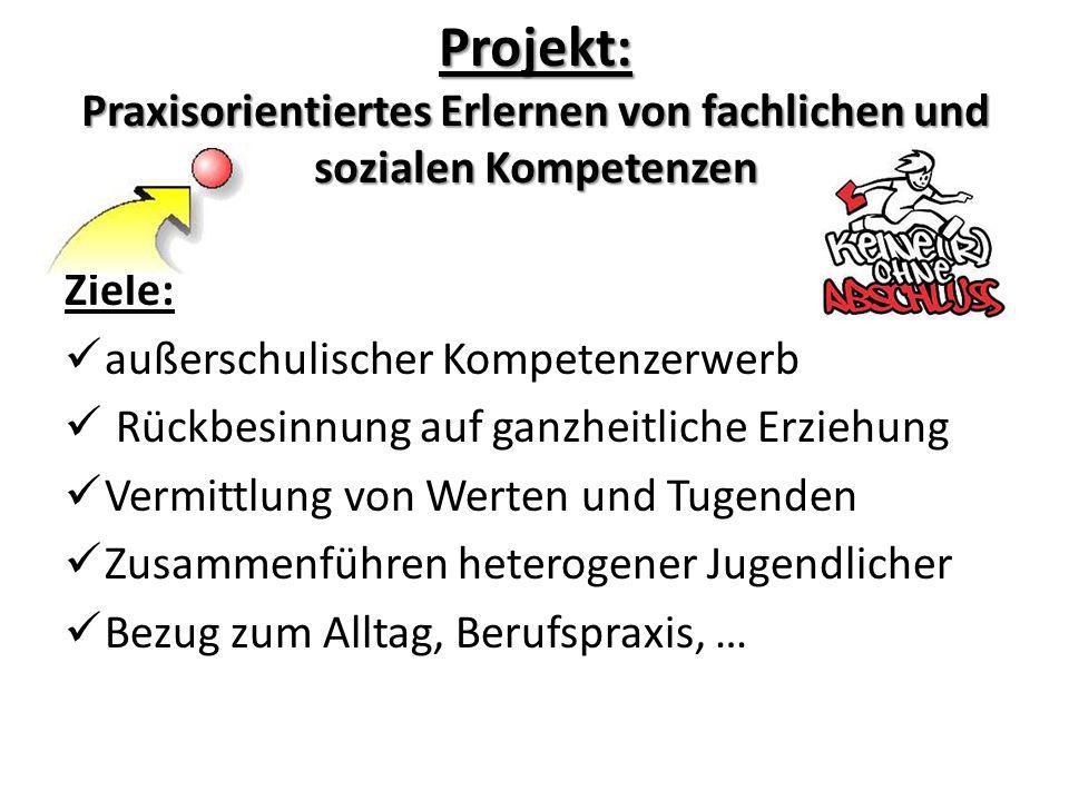 Projekt: Praxisorientiertes Erlernen von fachlichen und sozialen Kompetenzen