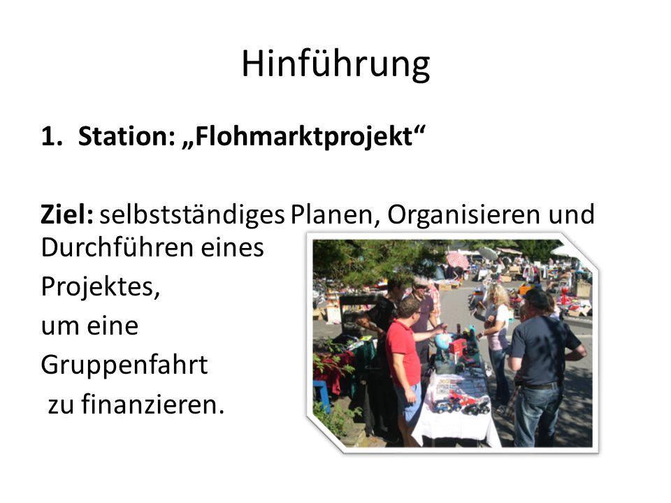 "Hinführung Station: ""Flohmarktprojekt"