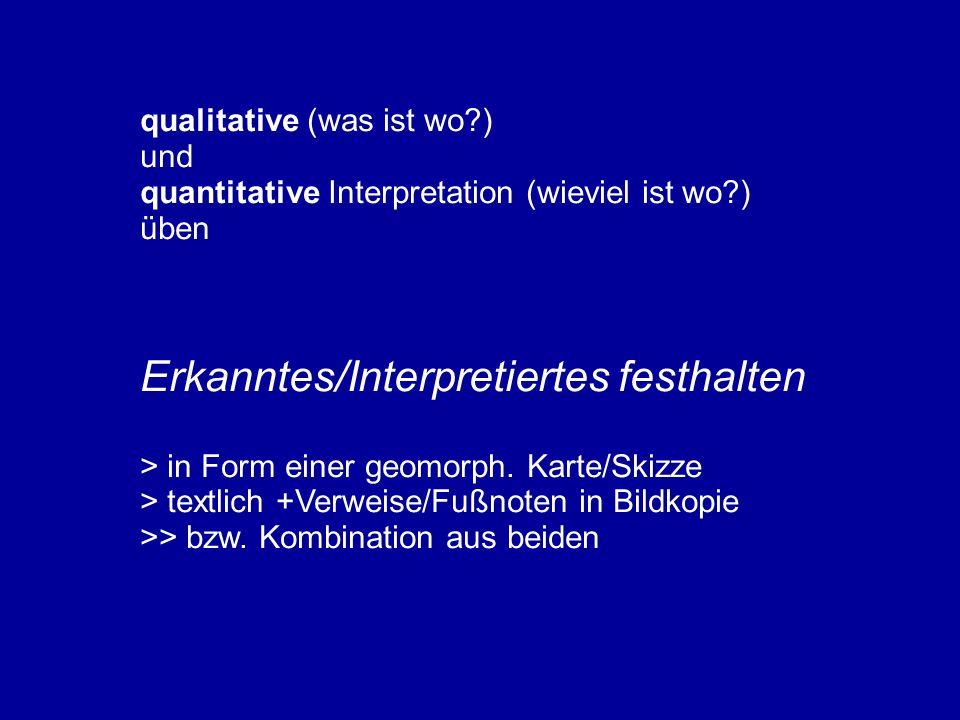 Erkanntes/Interpretiertes festhalten