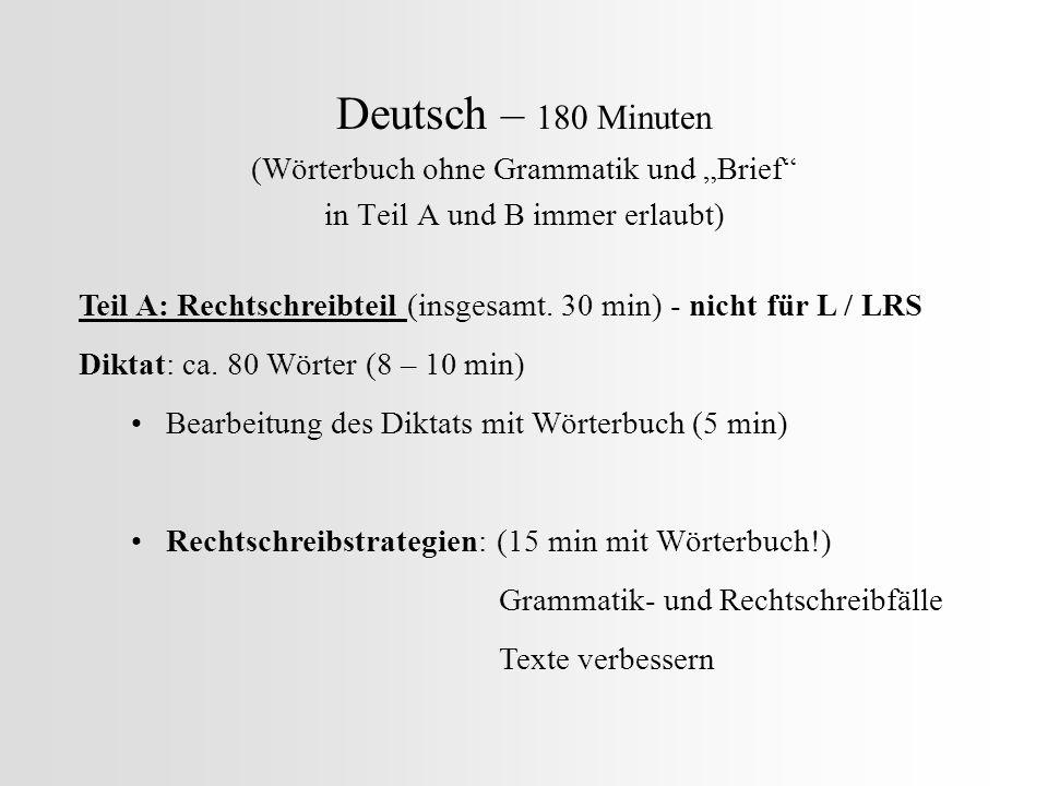 """Deutsch – 180 Minuten (Wörterbuch ohne Grammatik und """"Brief"""