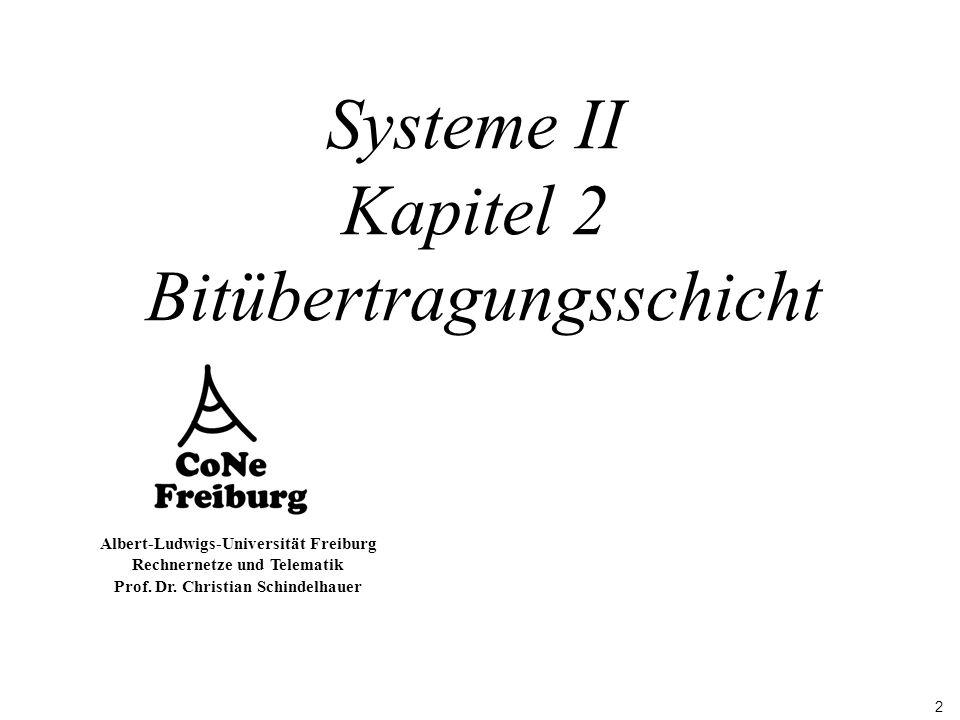 Systeme II Kapitel 2 Bitübertragungsschicht