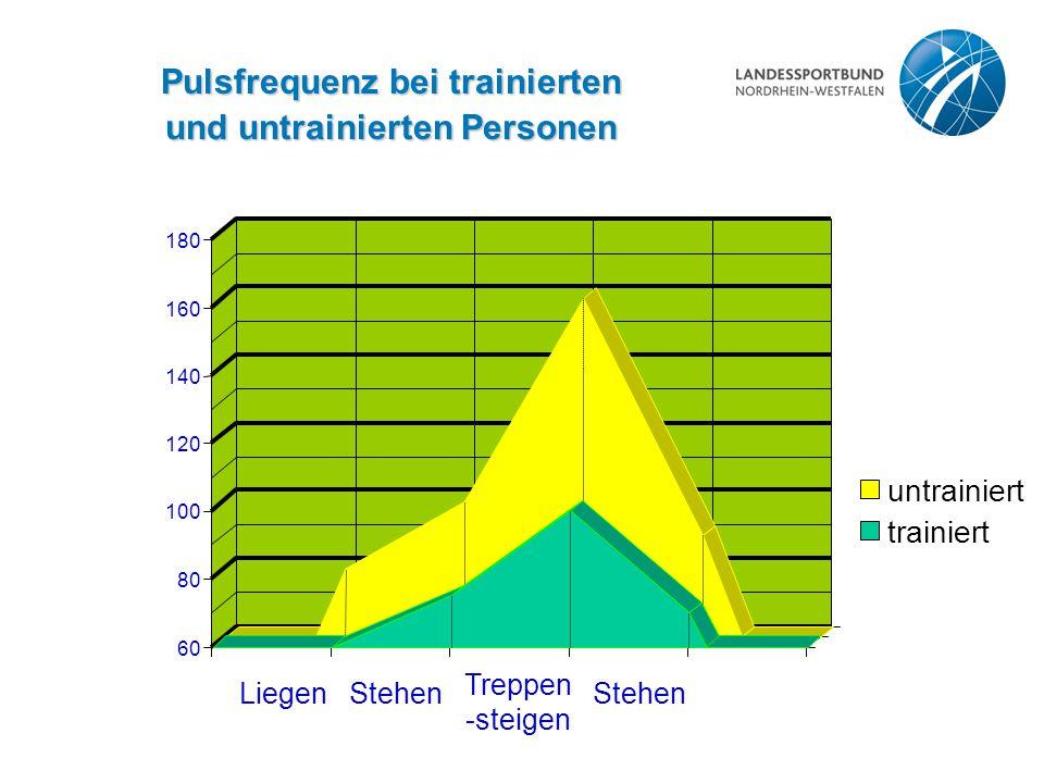 Pulsfrequenz bei trainierten und untrainierten Personen