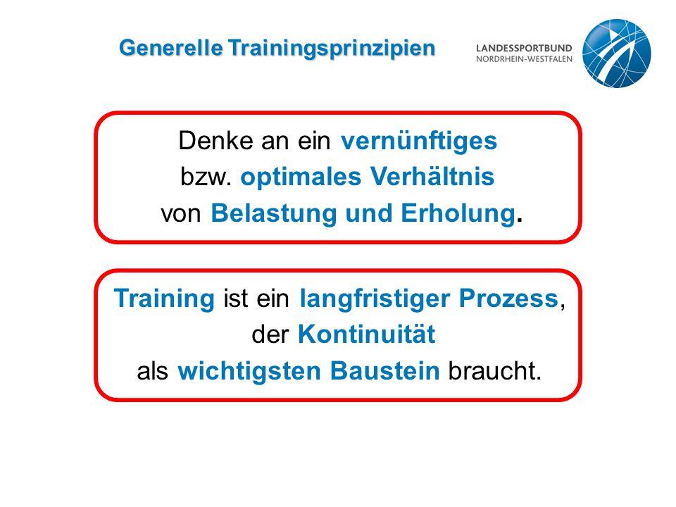 Generelle Trainingsprinzipien