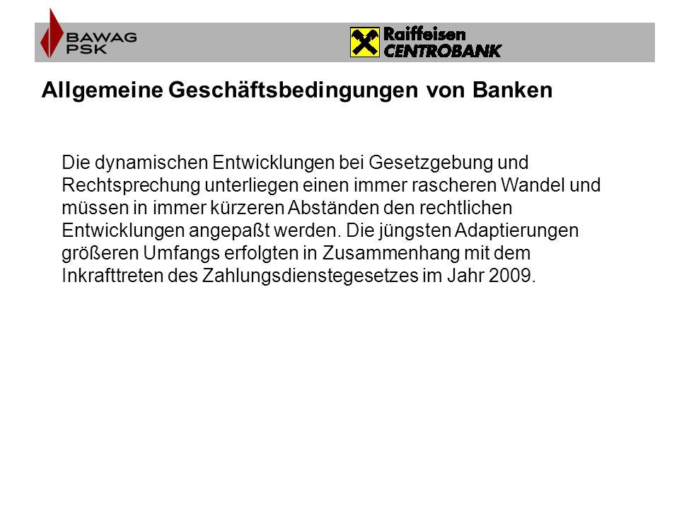 Allgemeine Geschäftsbedingungen von Banken