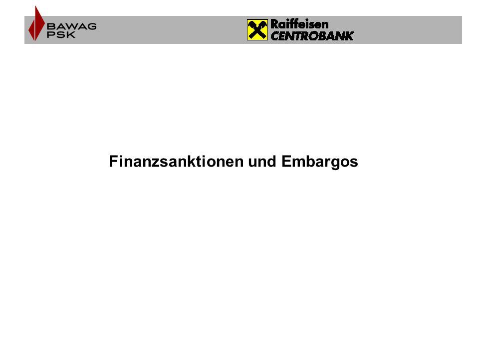 Finanzsanktionen und Embargos