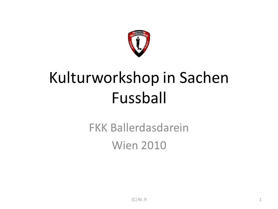 Kulturworkshop in Sachen Fussball